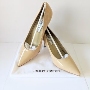 UNBRANDED Romy nude patent leather pump heels 6.5